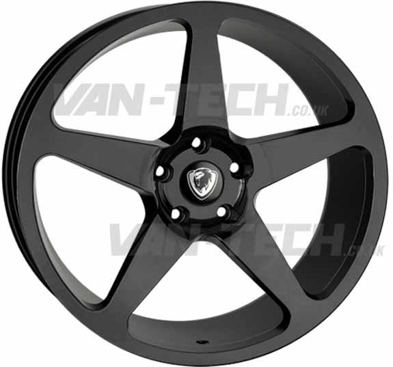 "VW T5 T5.1 T6 Cades Vulcan 20"" Alloy Wheels Gloss Black"