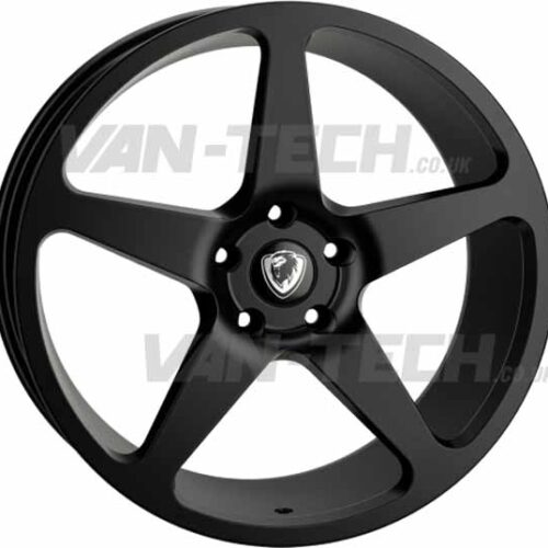 "VW T5 T5.1 T6 Cades Vulcan 20"" Alloy Wheels Matte Black"