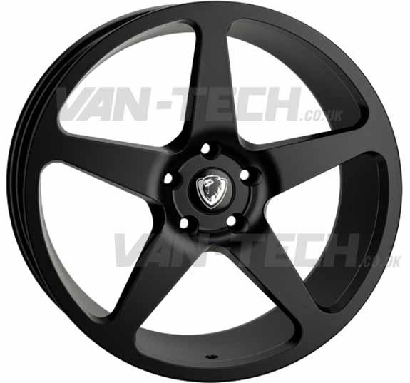 "VW T5 T5.1 T6 Cades Vulcan 20"" Alloy Wheels Matte Black"
