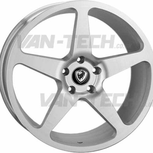 "VW T5 T5.1 T6 Cades Vulcan 20"" Alloy Wheels Silver"