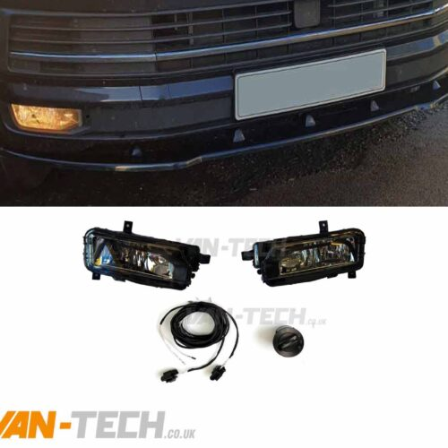 VW T6 Fog Lights with Bulbs, Wiring Kit and Switch
