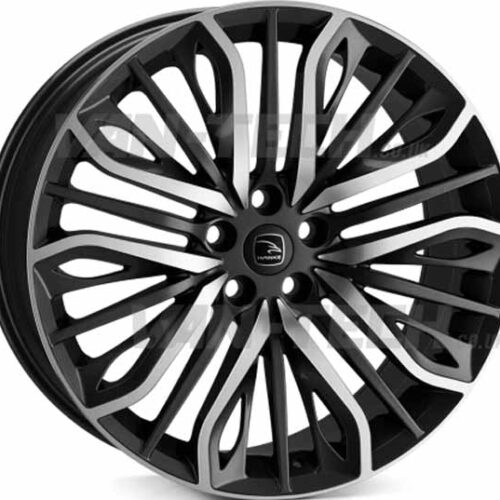 "VW T5 T5.1 T6 Hawke Vega 20"" Alloy Wheels Black Polished"