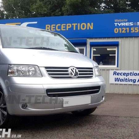 "VW T5 fitted with 20"" Wolfrace Dortmund Alloy Wheels"