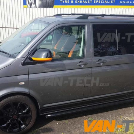 VW T5.1 fitted with Wolfrace Alloy Wheels Sportline Style Side Bars