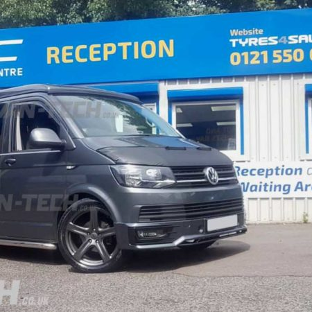 VW T6 fitted with Sportline Front Bumper, Side Bars, Alloy Wheels