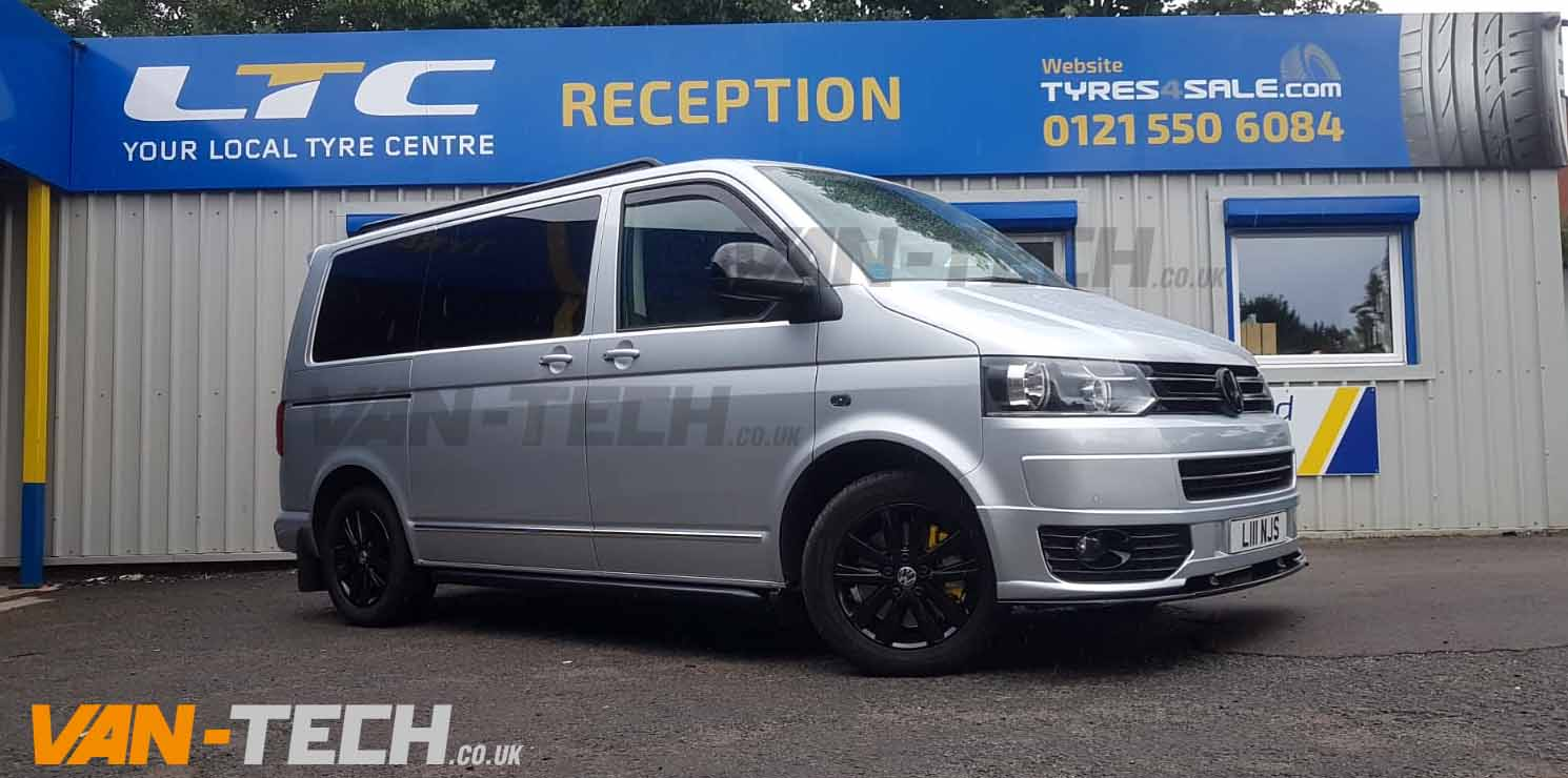 VW Transporter T5 fitted with lots of Van-Tech Accessories