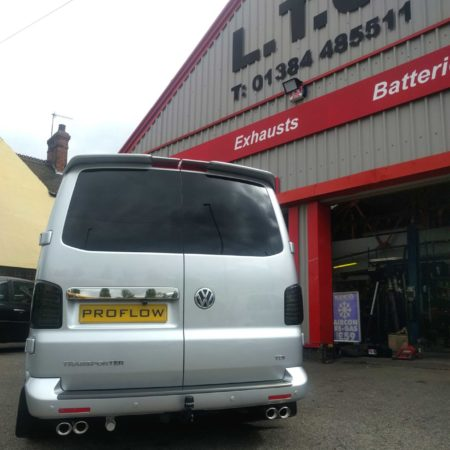 VW T5.1 fitted with Proflow Custom Stainless Steel Exhaust