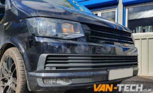 VW Transporter T6 Grille Gloss Black Badgeless