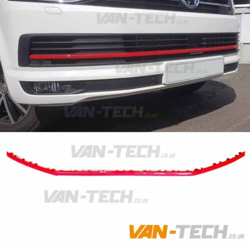 VW Transporter T6 Red Front Lower Grille Bumper Trim