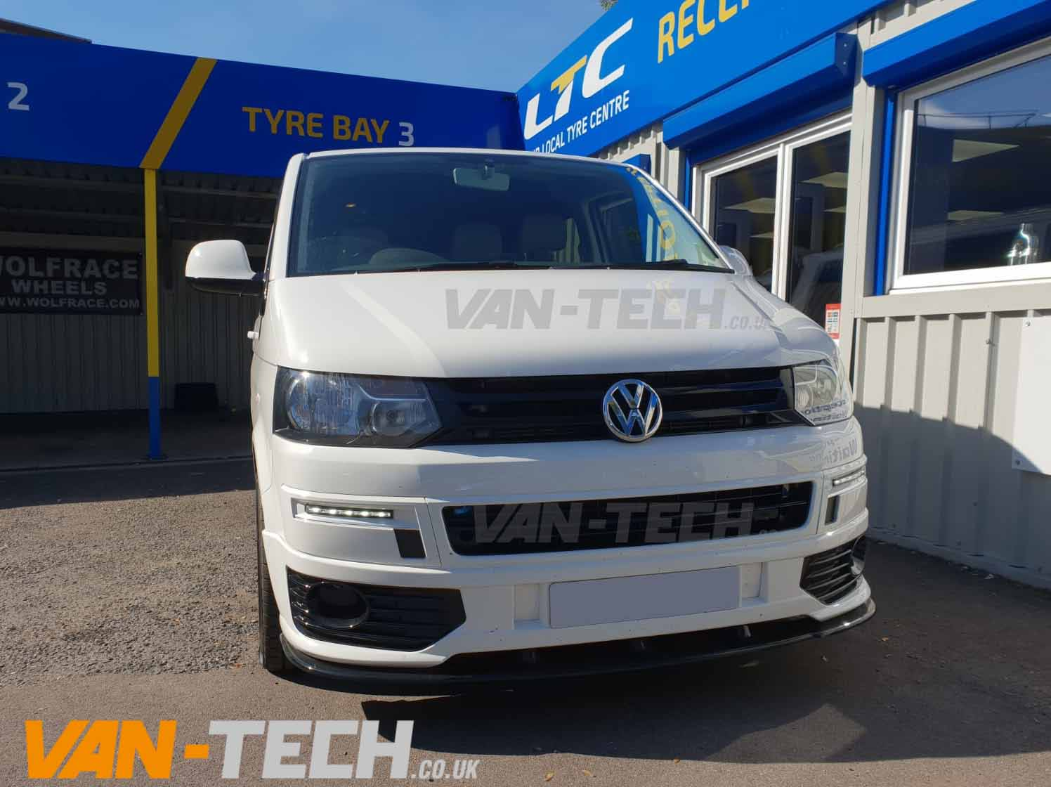 Vw T5 1 Fitted With Sportline Bumper Splitter And Side Bars