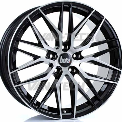 """VW T5 T5.1 T6 Bola B22 20"""" Alloy Wheels Black and Polished"""