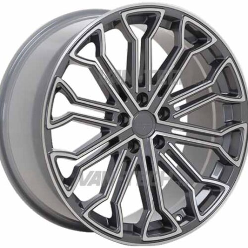 "VW T5 T5.1 T6 Velare VLR 04 Alloy Wheels 20"" Platinum Grey Machined Face"