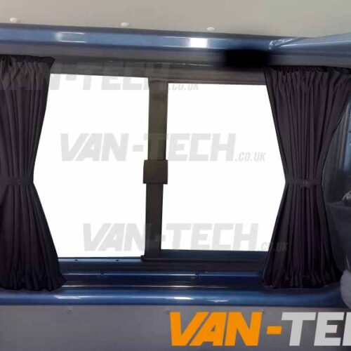 VW transporter t5 t5. t6 black interior curtains