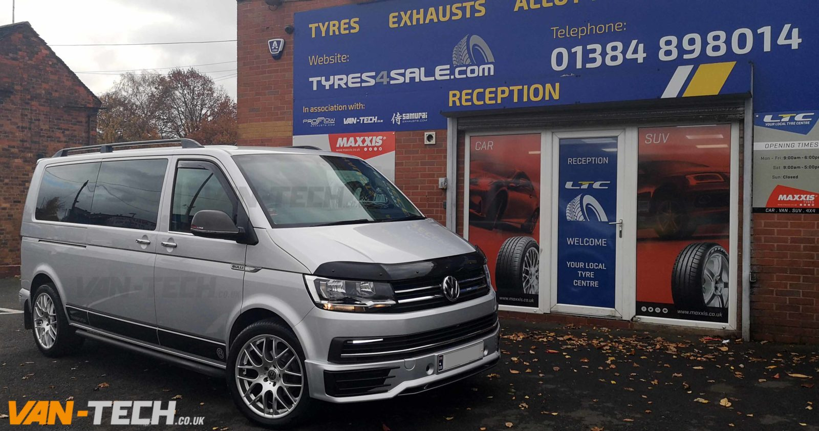 VW T6 Accessories Side Bars, Sportline Bumper and Roof Rails
