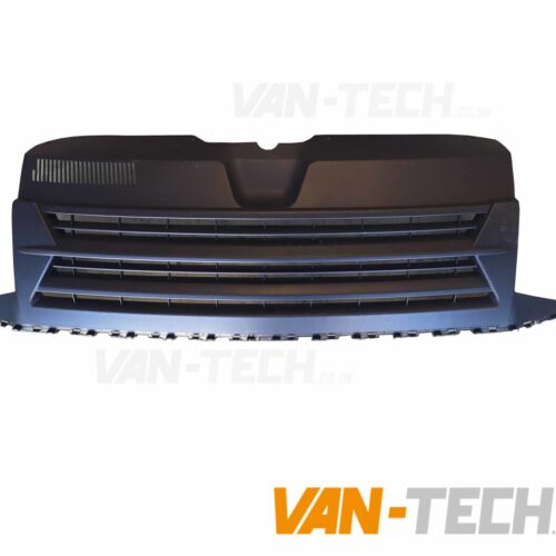 vw transporter t6 matte blackbadgeless grille
