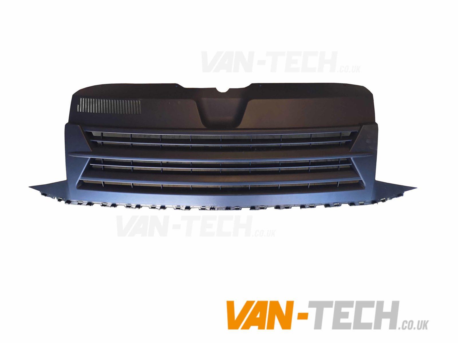 vw transporter t6 matte blackbadgeless grille