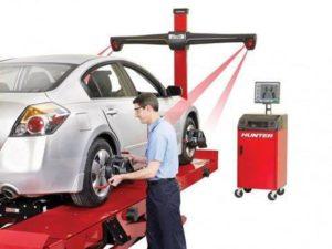 Van Tracking Hunter Hawkeye 4 Wheel Alignment by Van-Tech