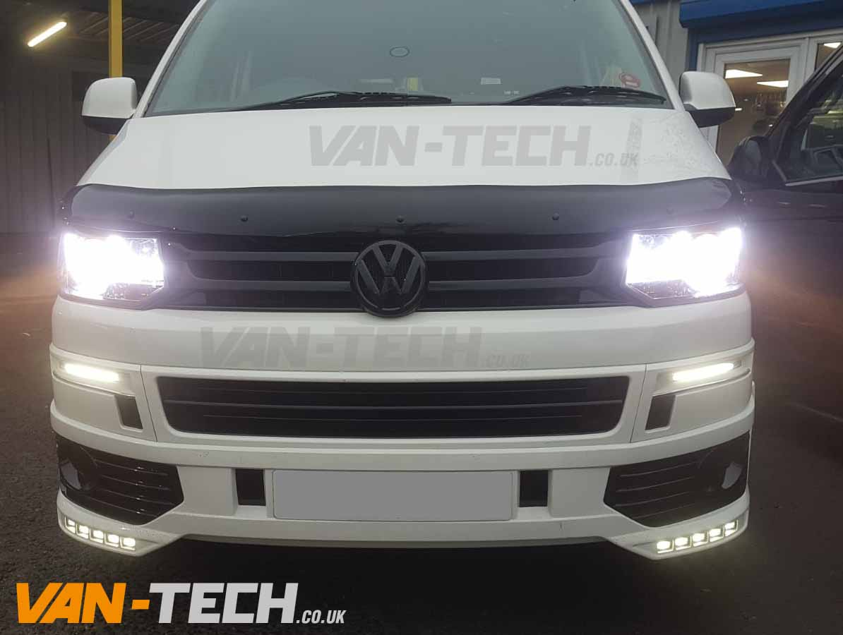 VW Transporter T5.1 fitted with Bonnet Deflector and Badge