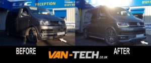 VW Transporter T6 Accessories Sportline Bumper and Splitter