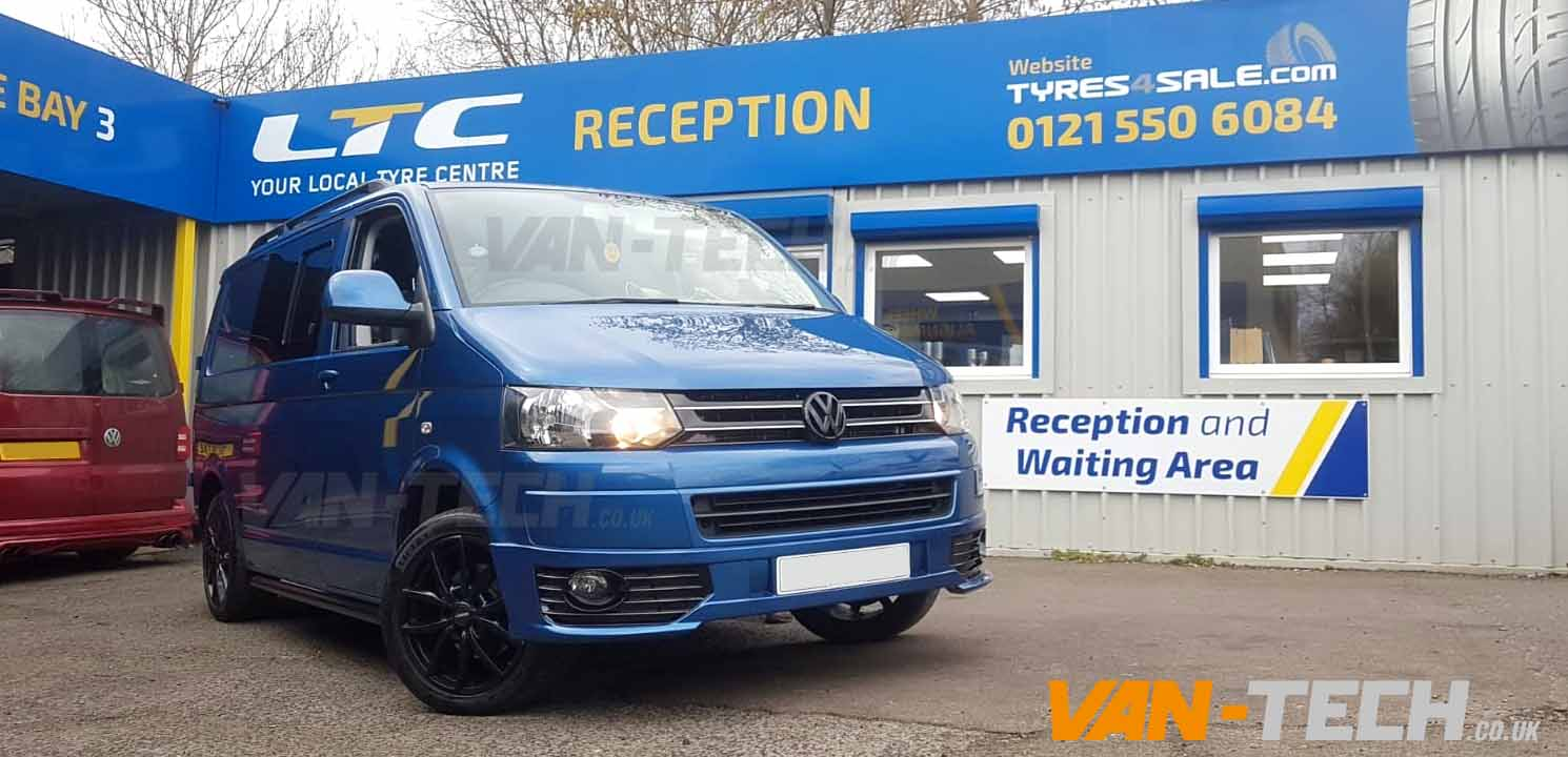 Vw T5 With Fitted With Side Bars Grille And Sportline Bumper Van Tech