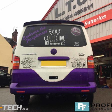 VW Transporter T5 Custom Stainless Steel Exhaust Dual Exit