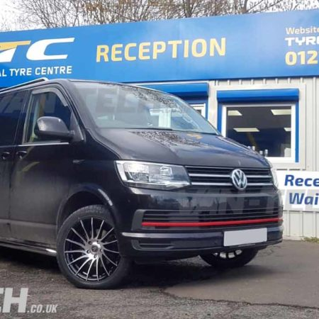 VW Transporter T6 fitted with lots of Van-Tech Accessories