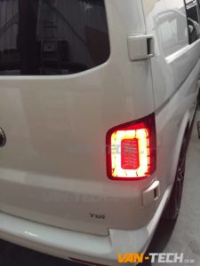 VW T5.1 T6 LED Smoked Barn Door Replacement Rear Lights