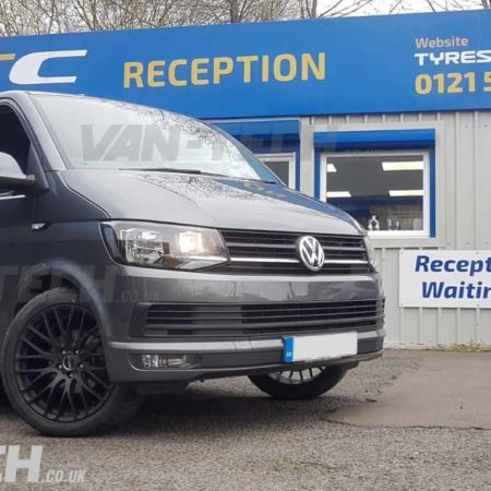 VW Transporter T6 fitted with Calibre Altus Alloy Wheels