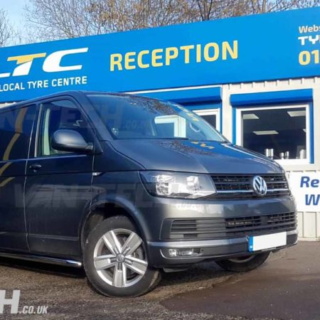 VW T6 Transporter fitted with Stainless Steel Sportline Side Bars