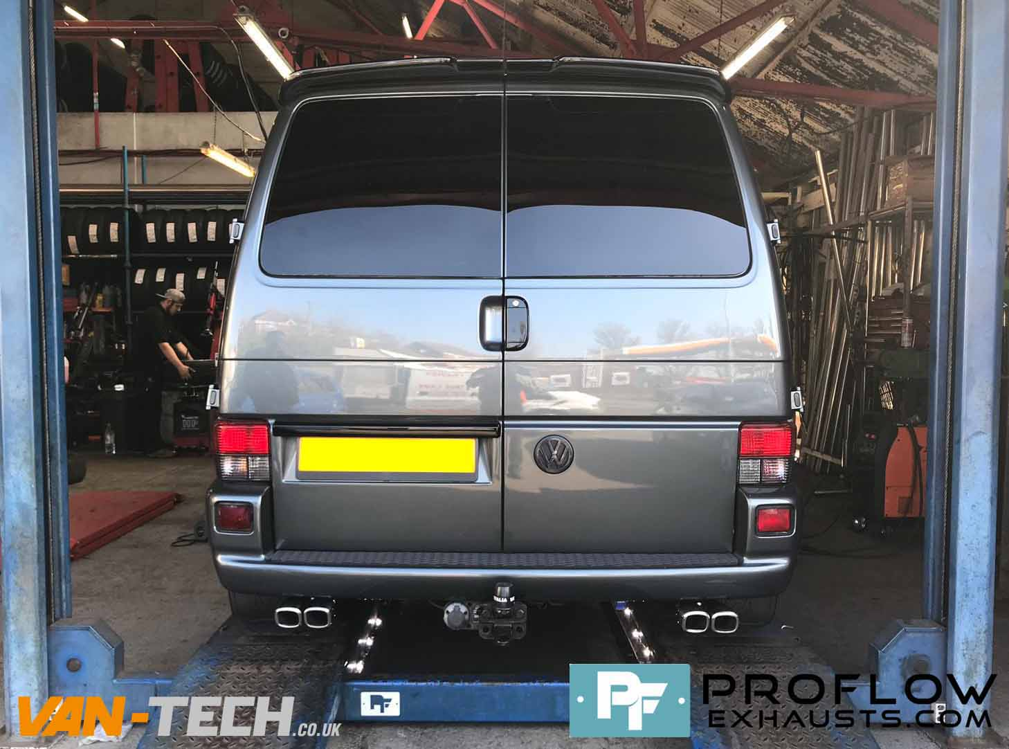 Proflow Custom VW T4 Exhaust Dual Exit Twin Tailpipes