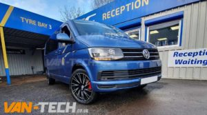 "Calibre Storm Alloy Wheels 20"" fitted to VW Transporter T6"