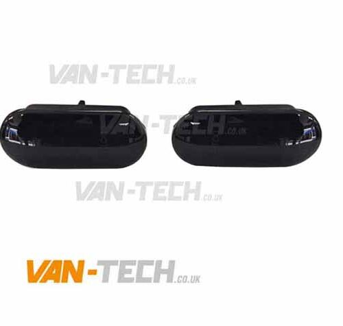 VW T5 T5.1 Transporter Black Smoked Dynamic Side Repeaters