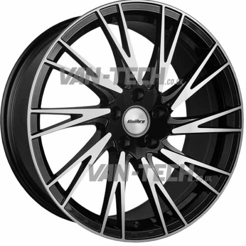 "VW T5 T5.1 T6 Calibre Storm Alloy Wheels 20"" Black / Polished"
