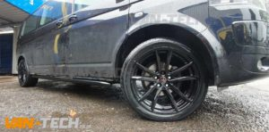 VW T5 accessories Wolfrace Dortmund Alloy Wheels and Black Side Bars