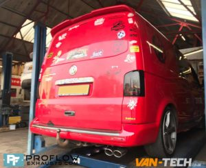 Custom Stainless Steel Exhaust for VW Transporter T5