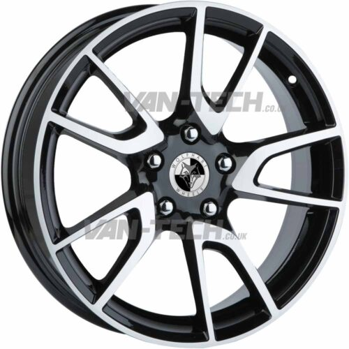 Wolfhart Nova Alloy Wheels 18″ VW T5 T5.1 T6 Polished / Black