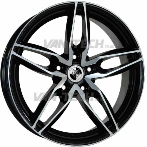 Wolfhart Origin Alloy Wheels 18″ VW T5 T5.1 T6 Polished / Black