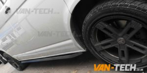 VW T5 T5.1 T6 Sportline Black Side Bars Angular Style