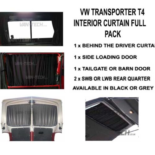 This VW T4 Blackout Interior Curtain Full Pack set really looks the part and will give you a nice and simple way to provide some extra privacy to the interior of your vehicle.