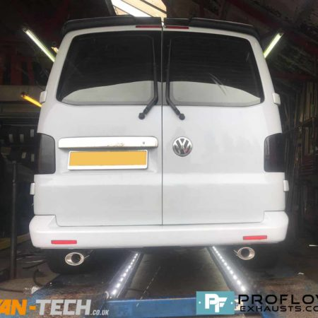 Proflow Custom Built Exhaust Transporter VW T5 made from stainless steel