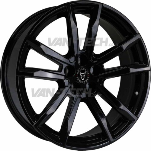 Wolfrace Dortmund Alloy Wheels 18″ VW T5 T5.1 T6 Gloss Black