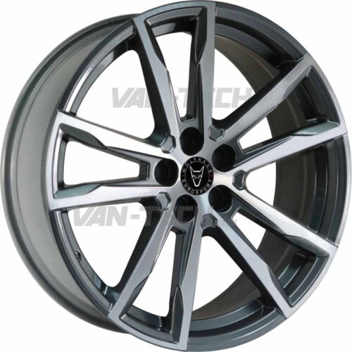 Wolfrace Dortmund Alloy Wheels 18″ VW T5 T5.1 T6 Gumetal / Polished