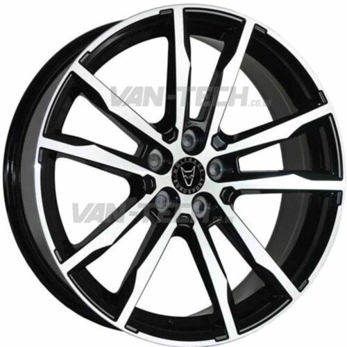 Wolfrace Dortmund Alloy Wheels 18″ VW T5 T5.1 T6 Black / Polished