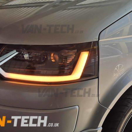 T5.1 VW Transporter Light Bar Headlights with Dynamic Indicators