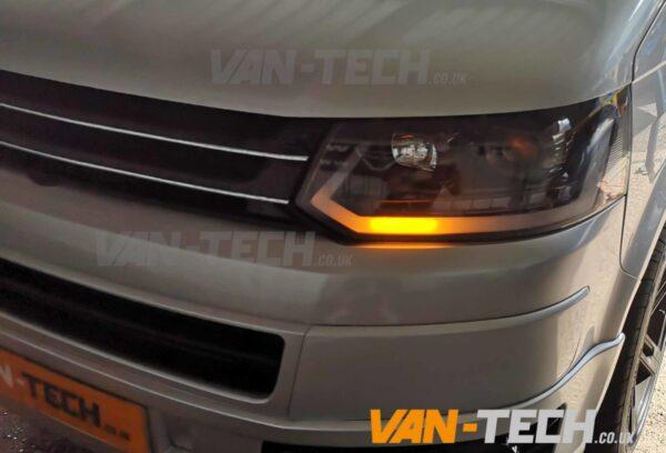 T5.1 VW Transporter Light Bar Headlights with Dynamic Indicators