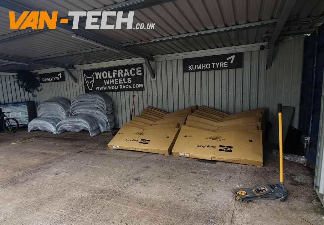 T5.1 VW Transporter Parts Delivery at Van-tech Bumper and Bonnets