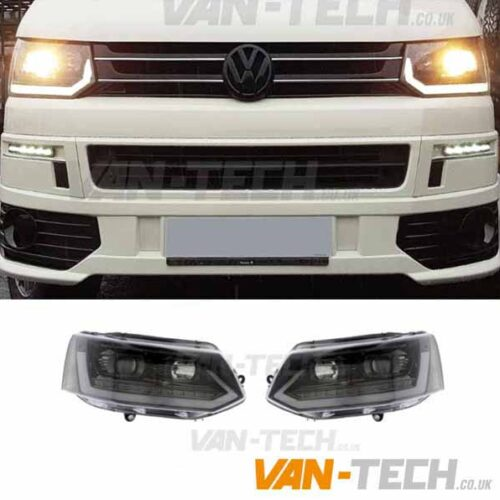 VW Transporter T5.1 Light Bar Headlights Dynamic Indicators 2010-2015