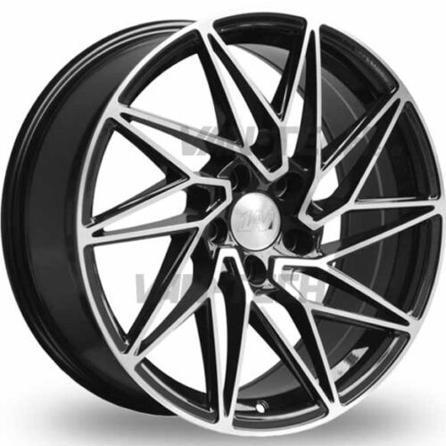 "VW T5 T5.1 T6 1AV ZX10 Alloy Wheels 18"" Black / Polished"