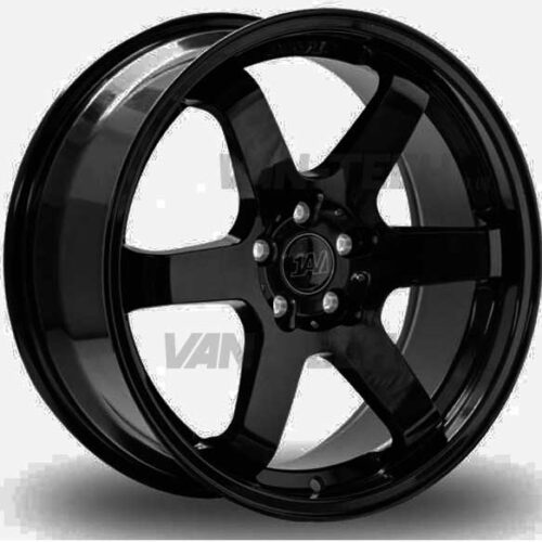 "VW T5 T5.1 T6 1AV ZX6 Alloy Wheels 18"" Gloss Black"