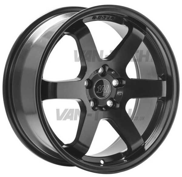 "VW T5 T5.1 T6 1AV ZX6 Alloy Wheels 18"" Satin Black"